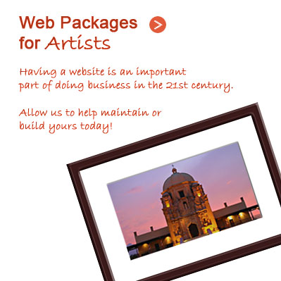Web Packages for Artists > Having a website is an important part of doing business in the 21st century.  Allow us to help maintain or build yours today!